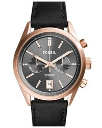 Fossil Del Rey Chronograph Leather Strap Watch 46mm