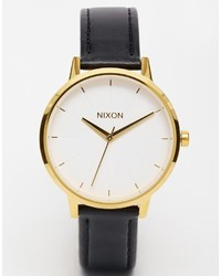 Nixon Kensington Black Leather Watch