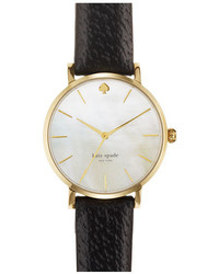 Kate Spade New York Metro Round Leather Strap Watch 34mm