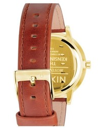 Nixon The Kensington Leather Strap Watch 37mm