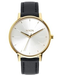 Nixon The Kensington Leather Strap Watch 37mm