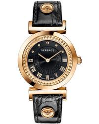 Versace Vanity Leather Strap Watch 35mm