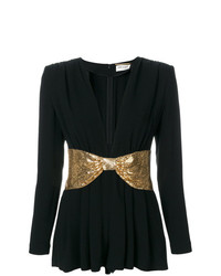 Saint Laurent V Neck Playsuit