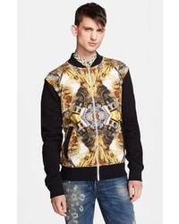 Print jersey bomber jacket medium 94185