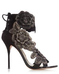 Winona floral appliqu suede sandals medium 1159781