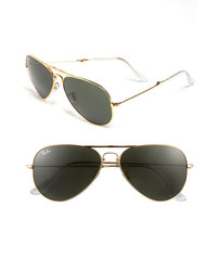Ray-Ban 58mm Folding Aviator Sunglasses