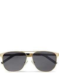 Saint Laurent Classic 13 Square Frame Metal Sunglasses