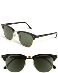 Classic clubmaster 51mm sunglasses dark tortoise green medium 204459