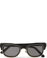 Cutler And Gross Square Frame Acetate And Metal Sunglasses
