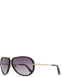 Tom Ford Cyrille Aviator Sunglasses Rose Goldenblack