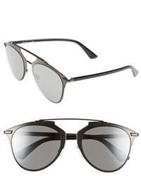 Dior reflected 52mm brow bar sunglasses light gold black medium 324192