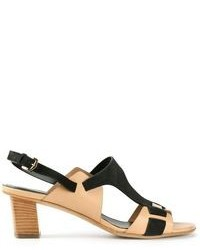 Tod's Contrast Panel Sandals