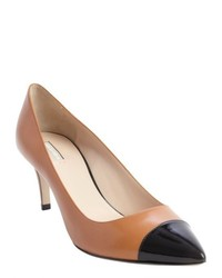 Black and Tan Leather Pumps
