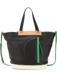 Round the way girl tote bag black multi medium 100817