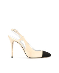 Black and Tan Suede Pumps