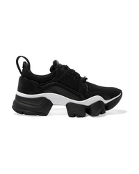 Givenchy Jaw Mesh And Suede Trimmed Leather Neoprene And Rubber Sneakers