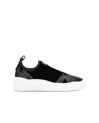 Just Cavalli Panelled Slip On Platform Sneakers
