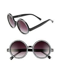Black and White Beaded Sunglasses