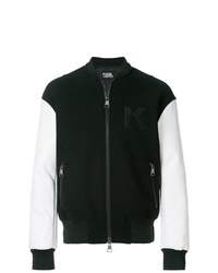 Black and White Bomber Jacket