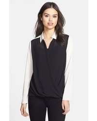 Black and white button down blouse original 4300491