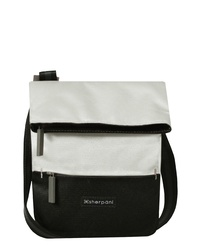 Black and White Canvas Crossbody Bag
