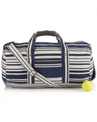 Black and White Canvas Duffle Bag