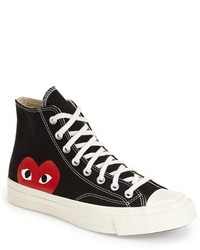 Comme des Garcons Play X Converse Chuck Taylor Hidden Heart High Top Sneaker