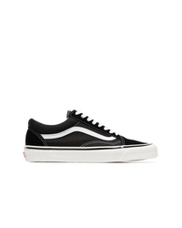 Vans Black And White 36 Dx Anaheim Factory Leather And Canvas Sneakers