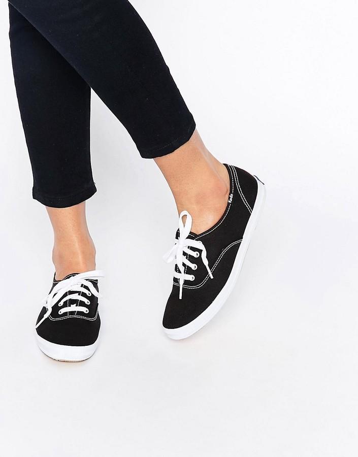 f5d06d81dcd ... Sneakers Keds Champion Canvas Black White Sneaker Shoes ...