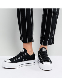 Converse Chuck Taylor Platform Ox Trainers In Black