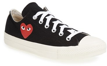 Comme Des Garcons Mens Play X Converse Chuck Taylor Low Top Sneaker