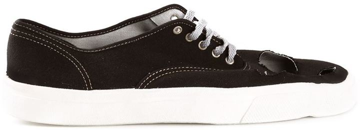 Comme des Garçons Homme Plus Navy Suede Slip-On Sneakers m0u8F499
