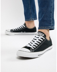 Converse Ox Plimsolls In Black M9166c