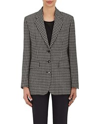 Black and White Check Blazer