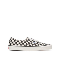 Vans Black And White Ua Classic Lace Up Dx Check Cotton Sneakers