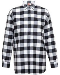 Plaid fleece shirt medium 106259
