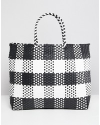 Warehouse Shopper Bag In Check