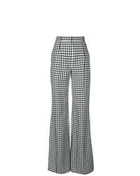Black and White Check Wide Leg Pants