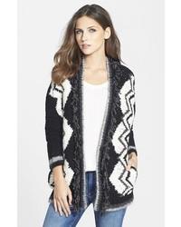 Chevron cardigan sweater medium 117329