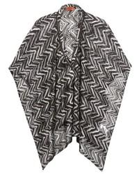 Missoni mare chevron knit poncho medium 347538