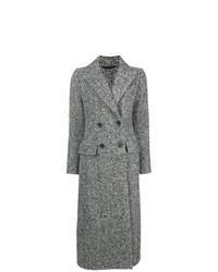 Ermanno Scervino Melange Double Breasted Coat