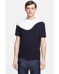 Black and White Crew-neck T-shirt