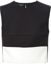 Narciso Rodriguez Contrast Hem Cropped Blouse