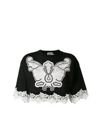 Fausto Puglisi Macram Insert Cropped Top