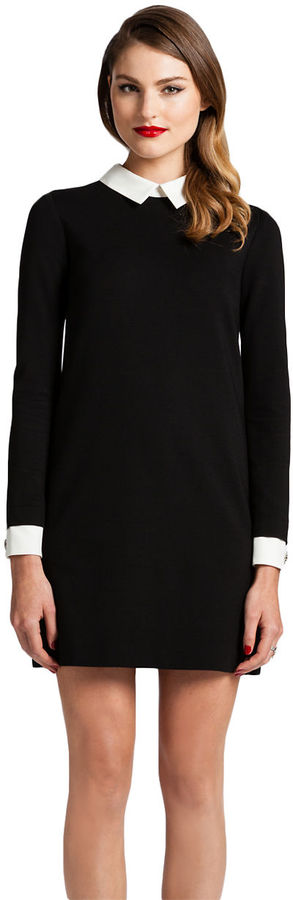 Black dress with white peter pan collar uk