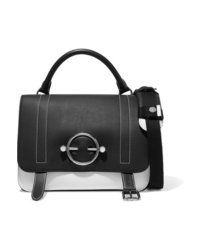 JW Anderson Disc Two Tone Leather And Suede Shoulder Bag