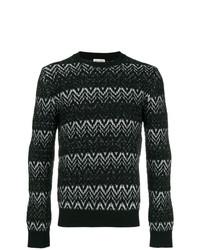 Saint Laurent Zig Zag Embroidered Sweater