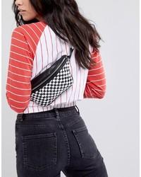 ASOS DESIGN Asos Quilted Bum Bag In Checkerboard Print
