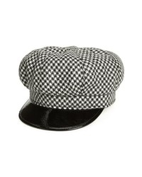 Black and White Flat Cap