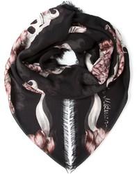 Floral skull print scarf medium 175094